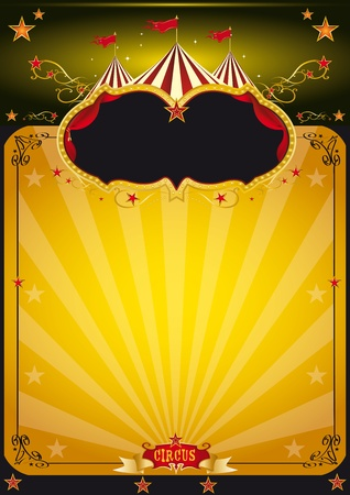 cabaret stage: An orange circus background for your poster design  Illustration