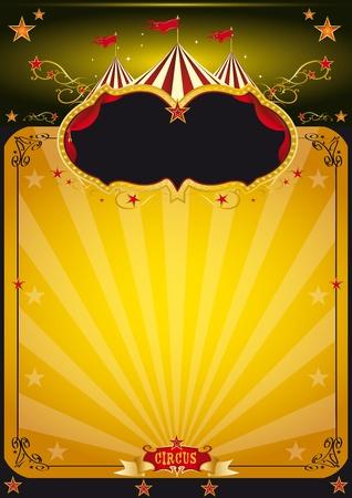 cabaret: Un fond orange du cirque pour votre conception de l'affiche