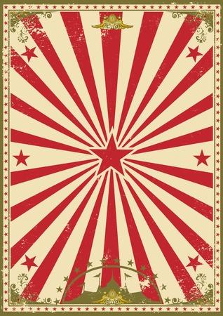 cirkusz: A retro cirkusz hátteret a show- Illusztráció