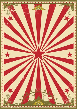 carnaval: Een retro circus achtergrond voor je show Stock Illustratie