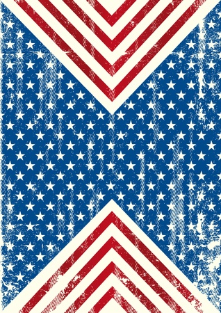 An american background with a grunge texture  Vettoriali