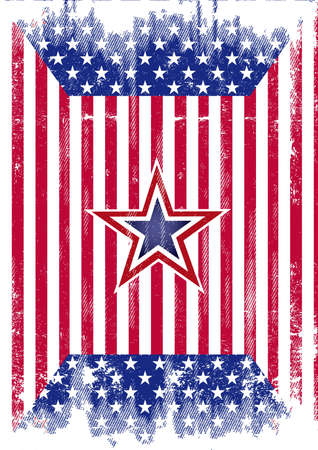 A dirty american flag for a background  Vector