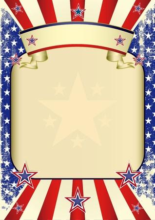 american poster: Un gran marco vac�o para su publicidad