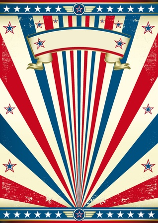 memorial day: A vintage poster for your message  Enjoy