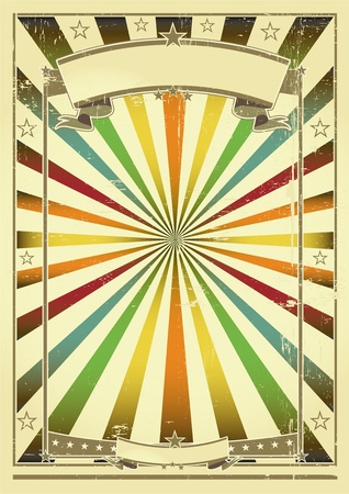 concert poster: A vintage poster with sunbeams for you Illustration