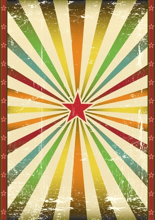 A background for a vintage poster and your show Vector