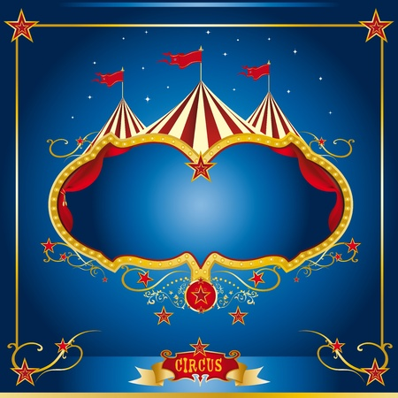 circus stage: A circus leaflet for the announcement of your show