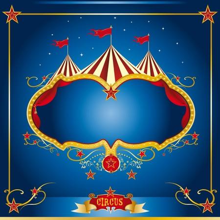 circo: Un folleto de circo para el anuncio de su show