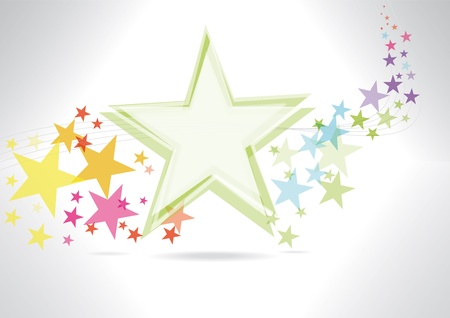 A multicolor abstract background with stars Stock Vector - 13316690