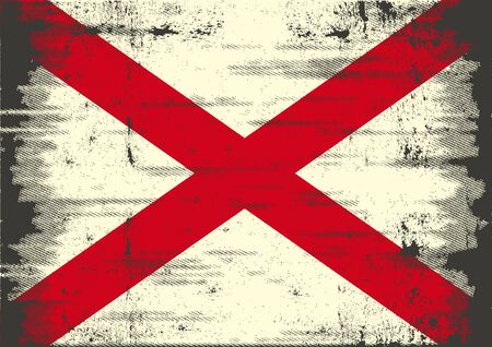 A grunge flag of Alabama for you Vector