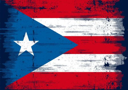 puerto rican flag: A grunge flag of Puerto Rico for you Illustration