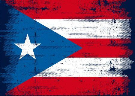 bandera de puerto rico: Una bandera del grunge de Puerto Rico para que