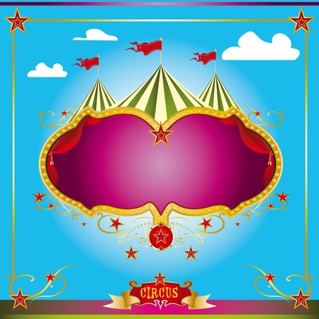 carnival background: A circus leaflet for the announcement of your show