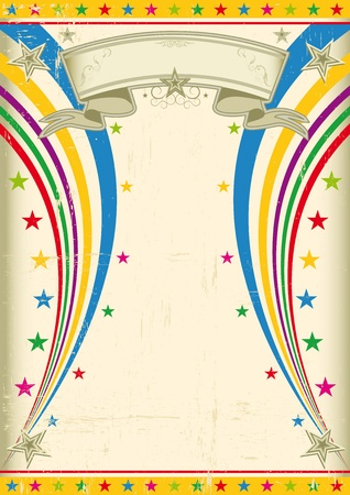 amusement: A vintage multicolor poster for your party   Illustration