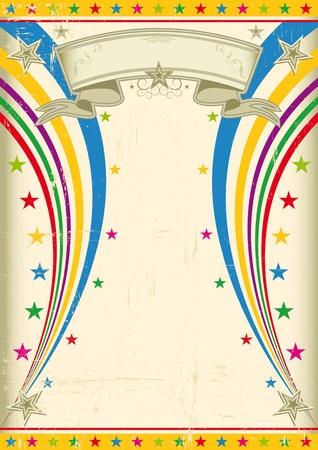 Ein Vintage-multicolor Poster für Ihre Party