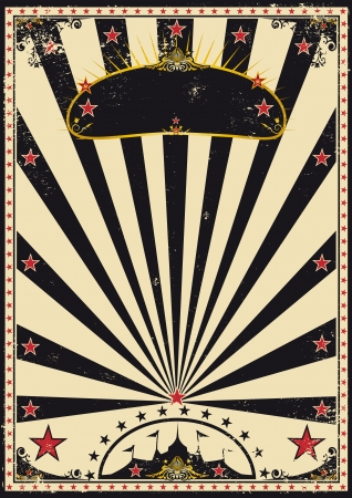 A retro circus poster for your advertising Vector