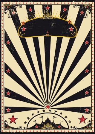 Un cartel de circo retro para su publicidad.