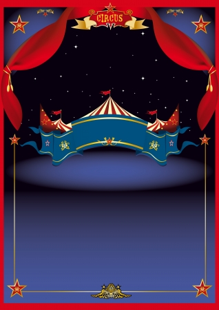 cabaret stage: Un cartel de circo con las cortinas para que Vectores