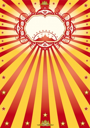 가면과 함께 새 서커스 포스터
