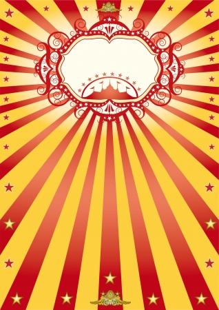 circo: Un cartel de circo de nuevo con los rayos del sol