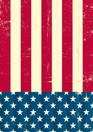 An american grunge flag for a background of a poster   Stock Vector - 14227018