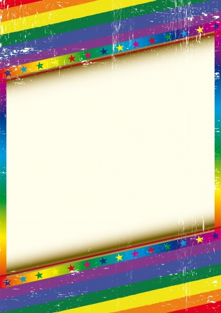 gay pride rainbow: A grunge textured background with a large copy space for your message