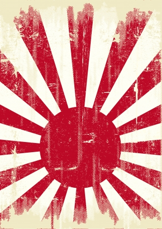 japanese flag: An old japan grunge flag for you