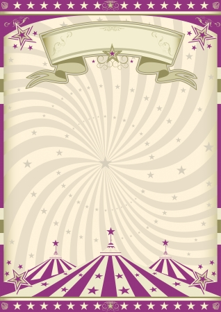 a circus vintage poster for your advertising  Vector