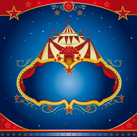 festivity: A circus leaflet for the announcement of your show
