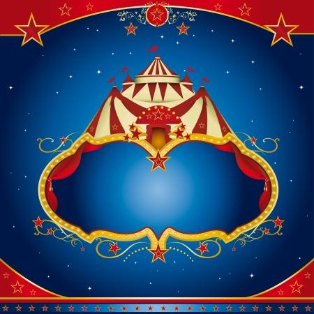 cabaret stage: Un folleto circo para el anuncio de su show Vectores