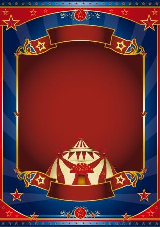 fondo de circo: un cartel de circo para su publicidad