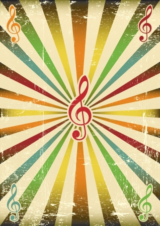 to score: A musical background for your concert Illustration