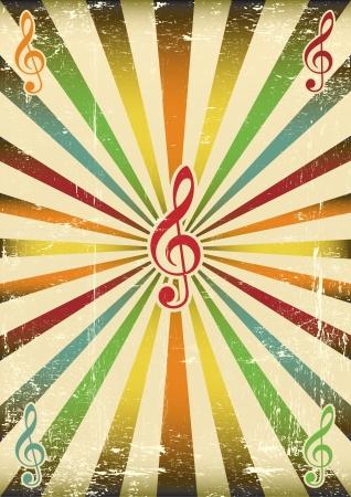 partition musique: Un fond musical pour votre concert Illustration