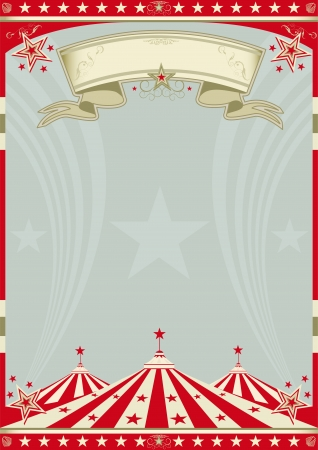 cirkusz: A retro cirkuszi háttér poszter