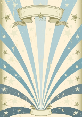 fete: A vintage blue background for your message Illustration