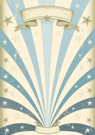 fondo de circo: Un fondo azul del vintage para su mensaje
