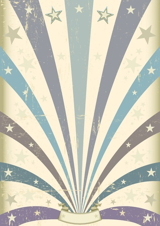A vintage blue background for your message Vector