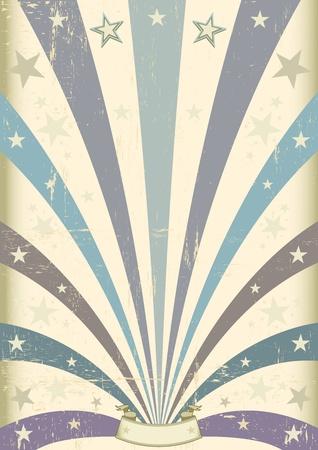 A vintage blauem Hintergrund für Ihre Nachricht