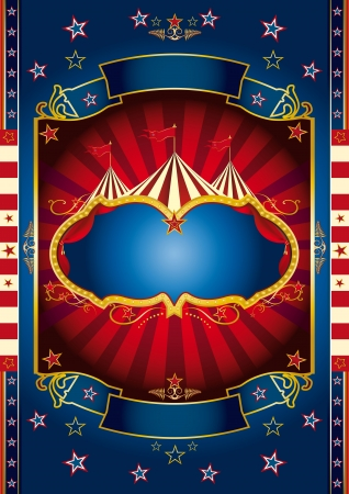 A new circus background for your show Vector