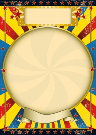 circus poster: A poster with a large circle frame for your advertising