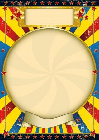 Un cartel con un marco amplio círculo para su publicidad