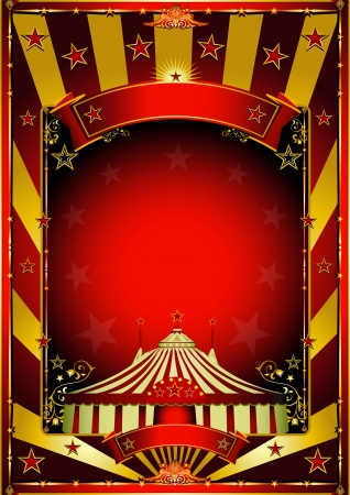 Un fond de cirque avec des rayons de soleil d'or