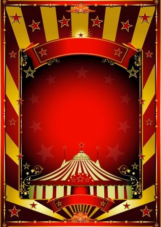 circense: Un fondo de circo con los rayos de sol de oro Vectores