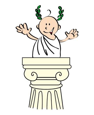 colonna romana: Mi riconosce im Giulio Cesare, il diffusore perfetto Vettoriali