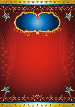 Red entertainment poster Vector