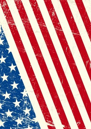old flag: An american grunge flag for you Illustration