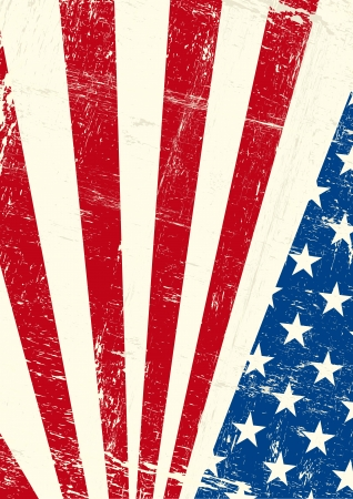 american history: An american grunge flag for you Illustration