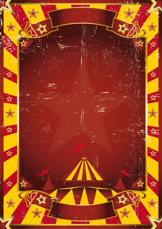 entertainment event: A circus yellow background with a texture Illustration
