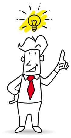 ingeniero caricatura: Yo soy el campeón de la creatividad Vectores