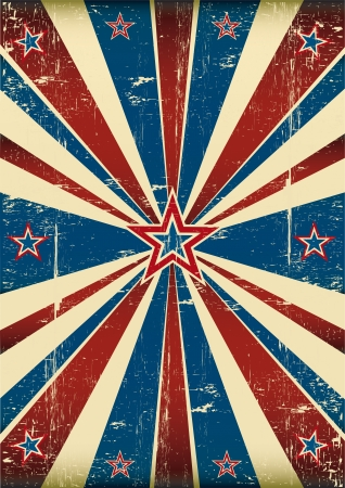 Dirty flag on US theme Vector